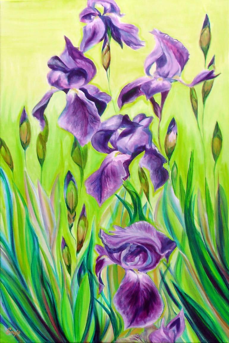 Iris in the sun yellow vans iris and van gogh buy iris in the sun a acrylic on canvas by snejana videlova from united states izmirmasajfo