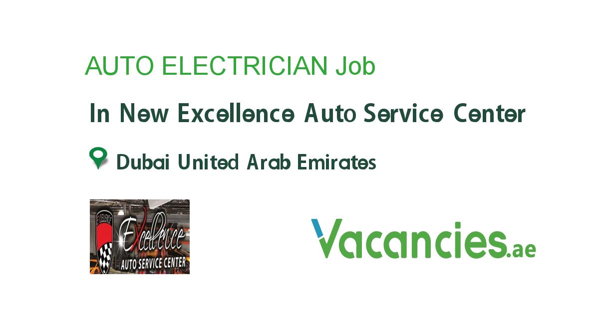 Auto Electrician Auto Service Center Mechanic Jobs Auto Service