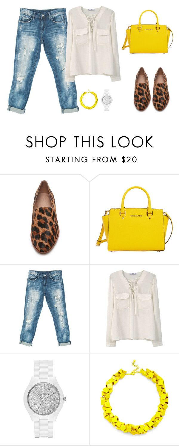 """dfghjkl;'"" by v-askerova on Polyvore featuring мода, Madewell, MICHAEL Michael Kors, Sans Souci, MANGO, Michael Kors и Slate & Willow"