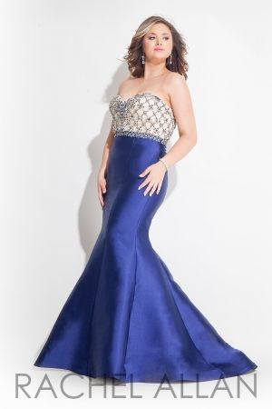 Strapless mermaid gown with decorative bodice. Order today by calling  Everything for Pageants at 1 f262b6aa0d7
