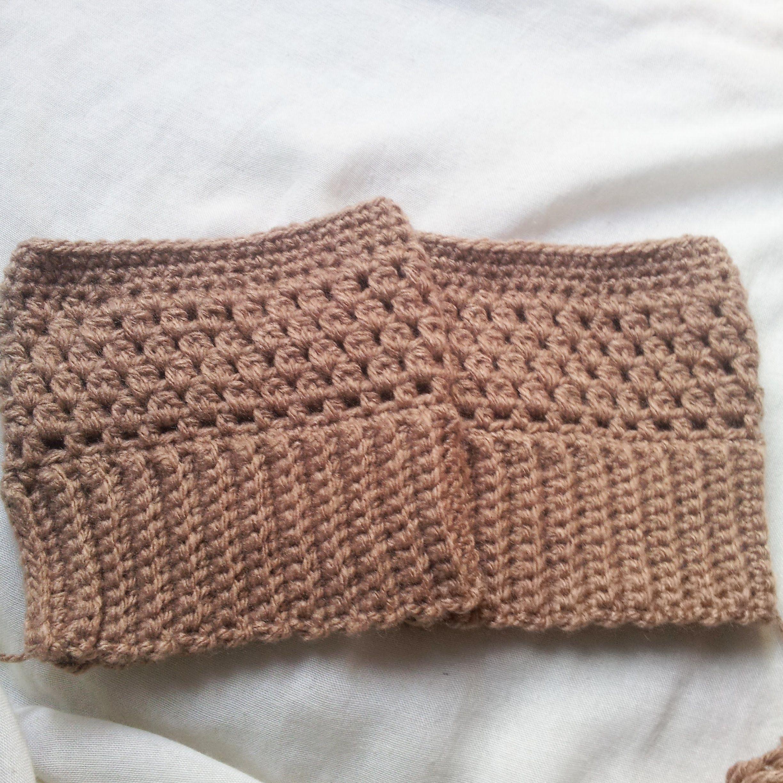 Boot cuffs de croche fácil / crochet boot cuffs easy | Trico ...