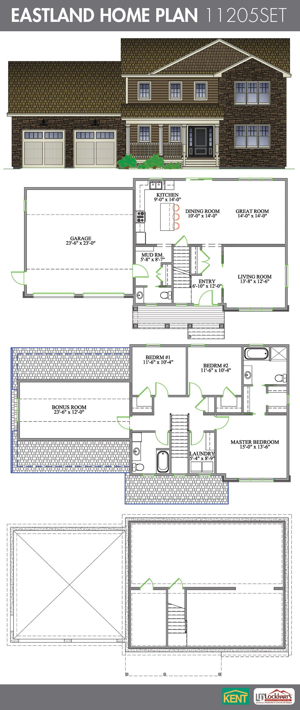 Eastland Home Plan House Plans Open Concept Great Room Kent Building