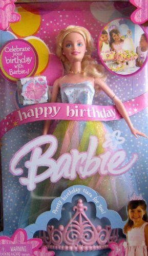 5fc8b213 Mattel Happy Birthday Barbie Doll with Pastel Rainbow Dress   Barbie ...