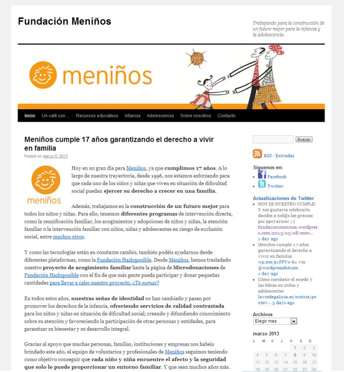 Tema WordPress ideales para Sitios Web Solidarios (ONGs ...