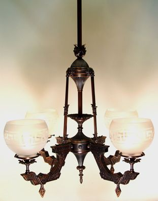 English victorian 6 light chandelier with etched glass shades english victorian 6 light chandelier with etched glass shades capture the aloadofball Images