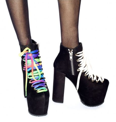 e4303b296de UNIF Hellbound with rainbow laces. UNIF Hellbound Platform Shoes ...