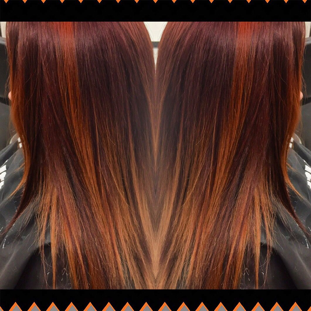 Redken color gels and shades eq fall ombré Hair