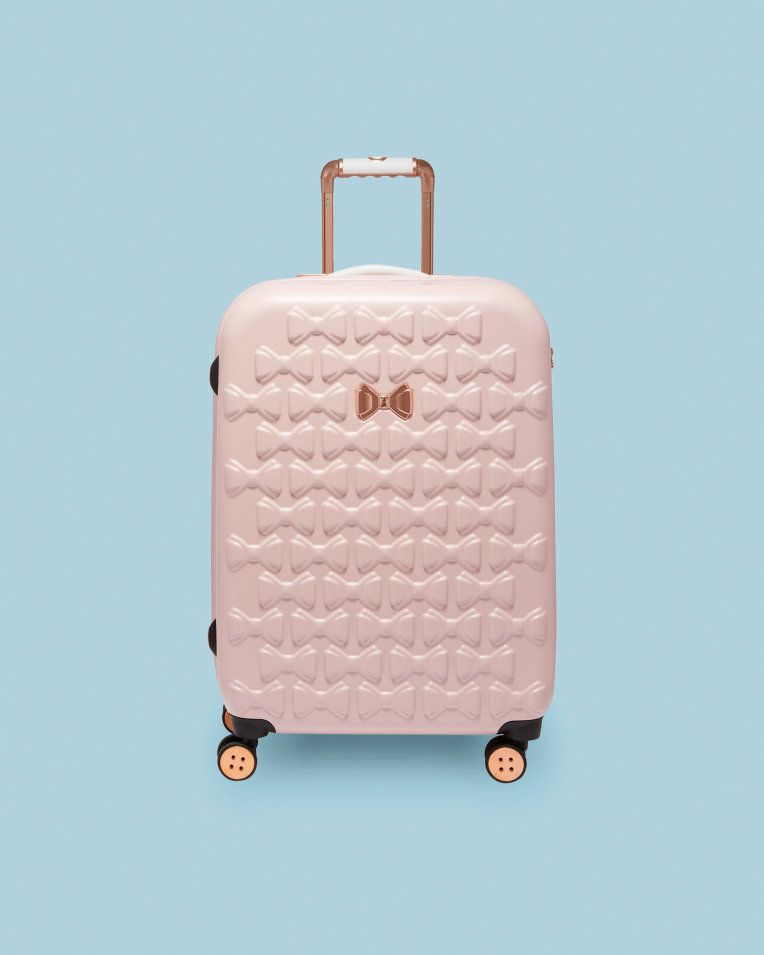92fbca36f3 Bow detail medium suitcase - Pink | Bags | Ted Baker UK ...