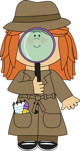 Girl Detective With Magnifying Glass Clip Art Girl Detective With Magnifying Glass Image Detective Theme Detective Themed Classroom Detective