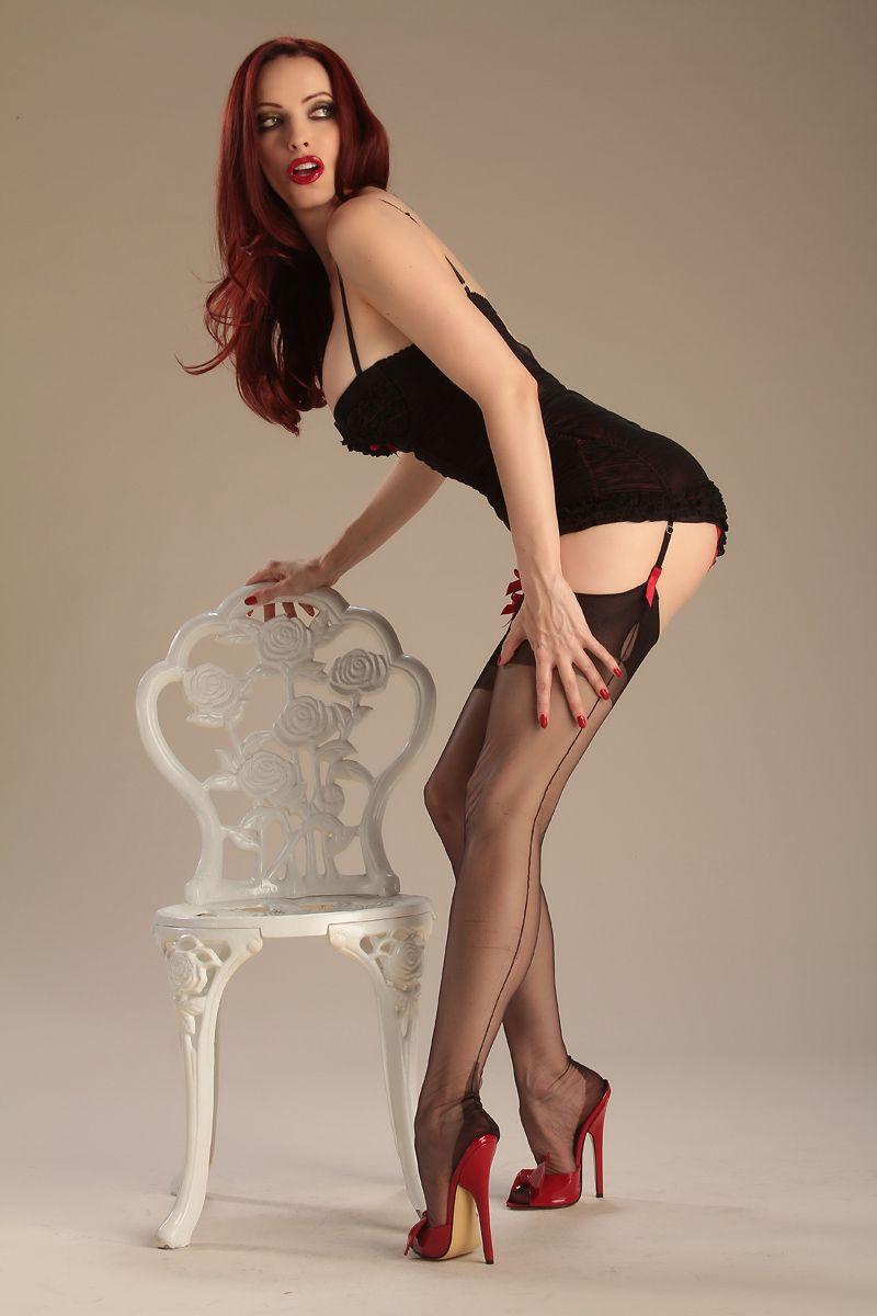 Sexy models lingerie high heels congratulate
