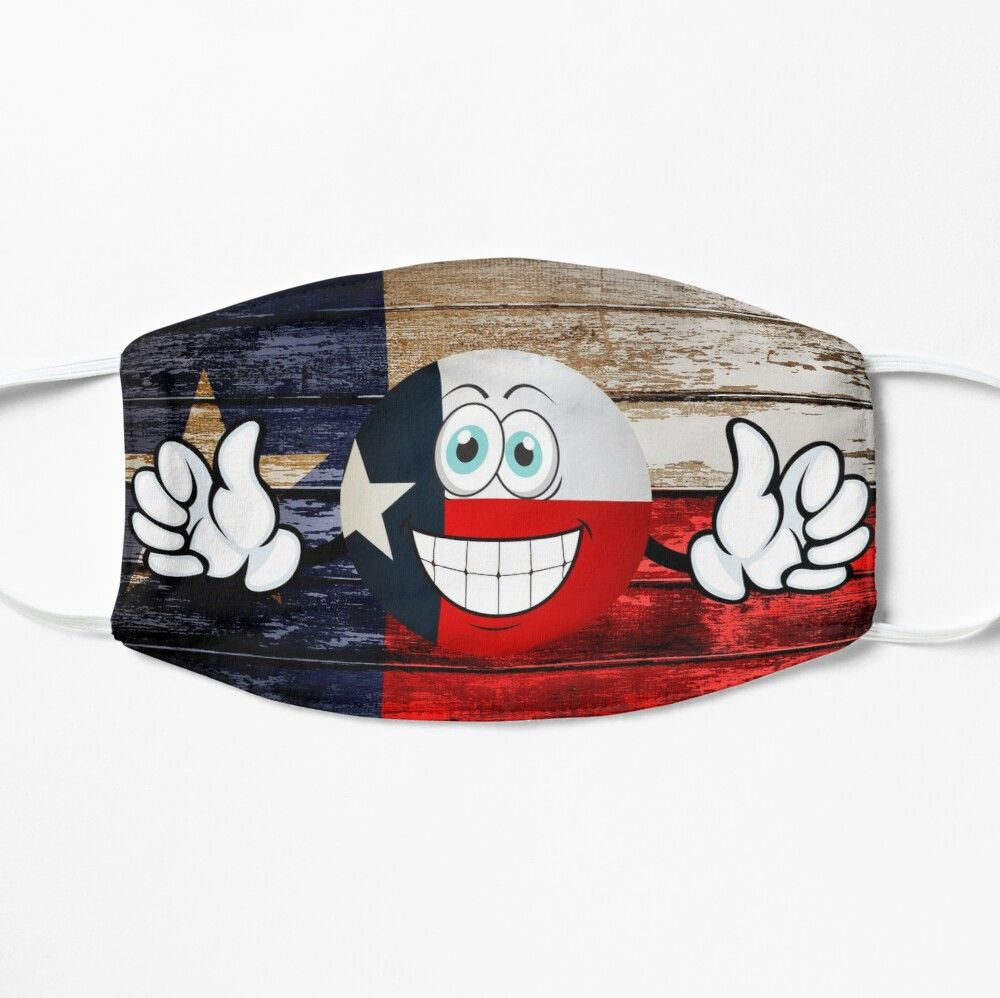 Get My Art Printed On Awesome Products Support Me At Redbubble Rbandme Https Www Redbubble Com I Mask Texas Texas Flag In 2020 Usa Flag American Flag Smiley Emoji