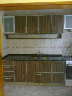 Mueble para cocina en melamina con cantos en aluminio ...
