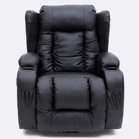 Rockingham Leather Swivel Recliner Chair With Massage And Heat In