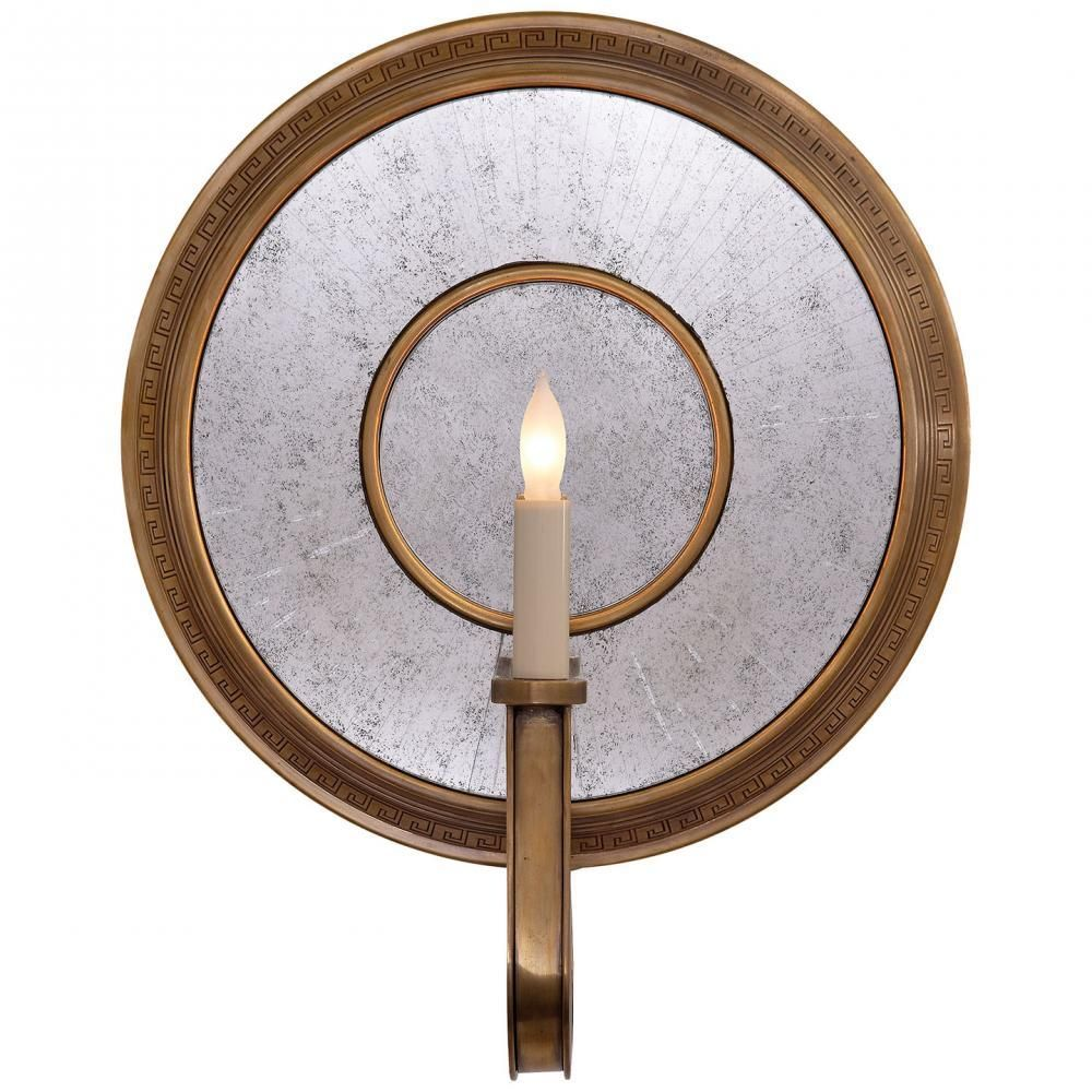 Lucy wall sconce in handrubbed antique brass products pinterest