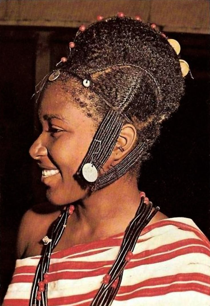 "Africa ""Coiffure traditionnelle Mubburu"". Republic of"