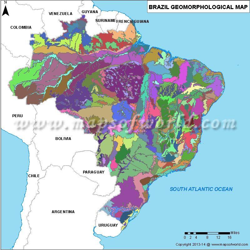 Brazil Geomorphology Map Maps Pinterest Brazil Geography and