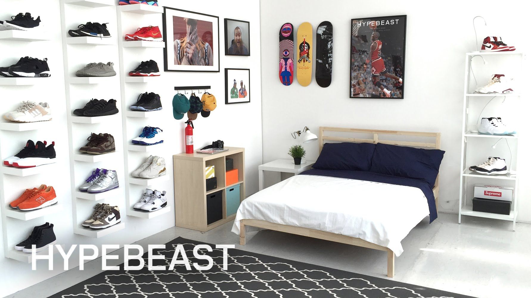 Ikea 174 And Hypebeast Design The Ideal Sneakerhead Bedroom