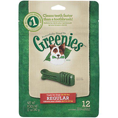 Greenies Dental Chews Regular Treats For Dogs Value Pack 12 Oz 12 Treats Dog Dental Chews Greenies Dog Treats Greenies