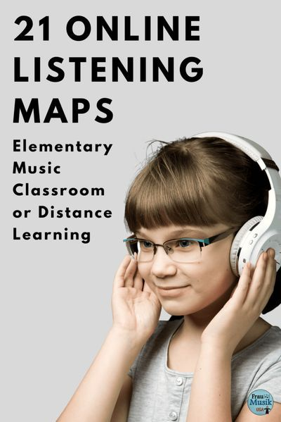 Listening Maps for Elementary Music Distance Learning | Frau Musik USA