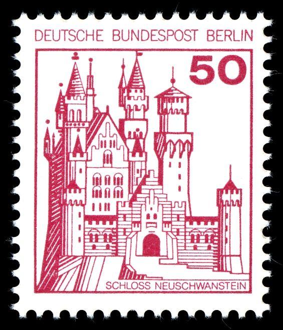 Deutsche Bundespost Berlin 1977 Schloss Neuschwanstein Bayern Burgen Und Schlosser Wertvolle Briefmarken Schloss Neuschwanstein Neuschwanstein