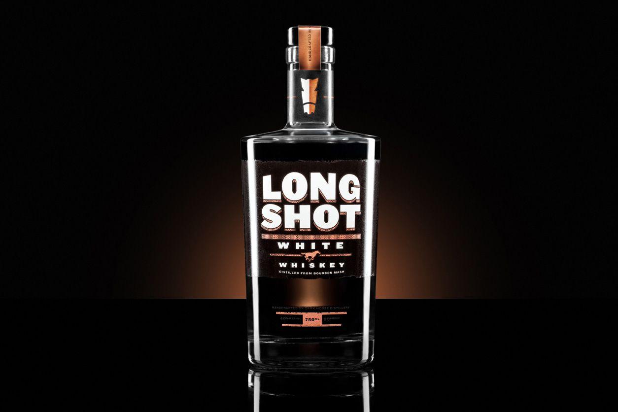 Long Shot White Whiskey for Dark Horse Distillery. Shot by 8183 Studio.