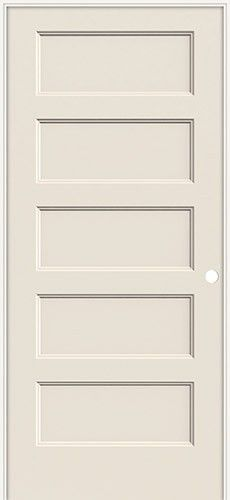 Discount 6 8 5 Panel Flat Molded Interior Prehung Door Unit Wood Doors Interior Discount Interior Doors French Doors Interior