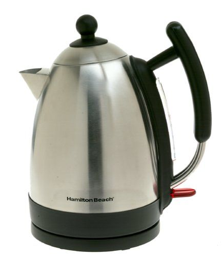Price: $59.99 - http://bit.ly/2nk5Bpc - Hamilton Beach 40886 Stainless Steel Electric Cordless Kettle - 1.7-liter kettle with powerful 1,500-watt heating element for rapid boiling Cord-free kettle rotates 360 degrees, easily removes from base Auto shutoff with boil-dry protection for safety