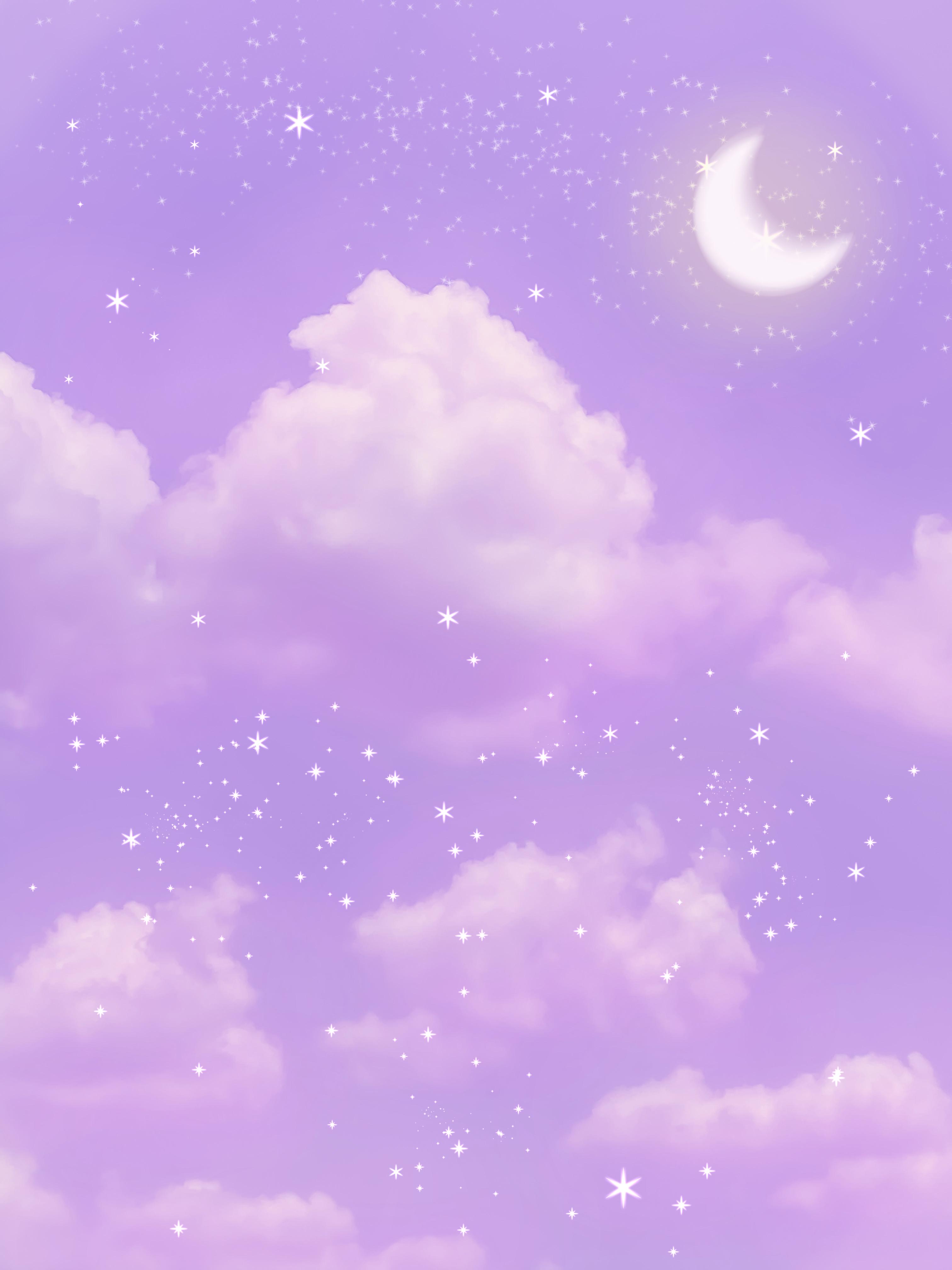 Aesthetic Purple Sky Fond D Ecran Violet Iphone Fond D Ecran Dessin Esthetique Pourpre
