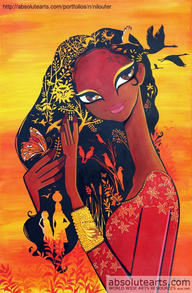 Niloufer Wadia, DUSK in 2020 Indian folk art, Rajasthani