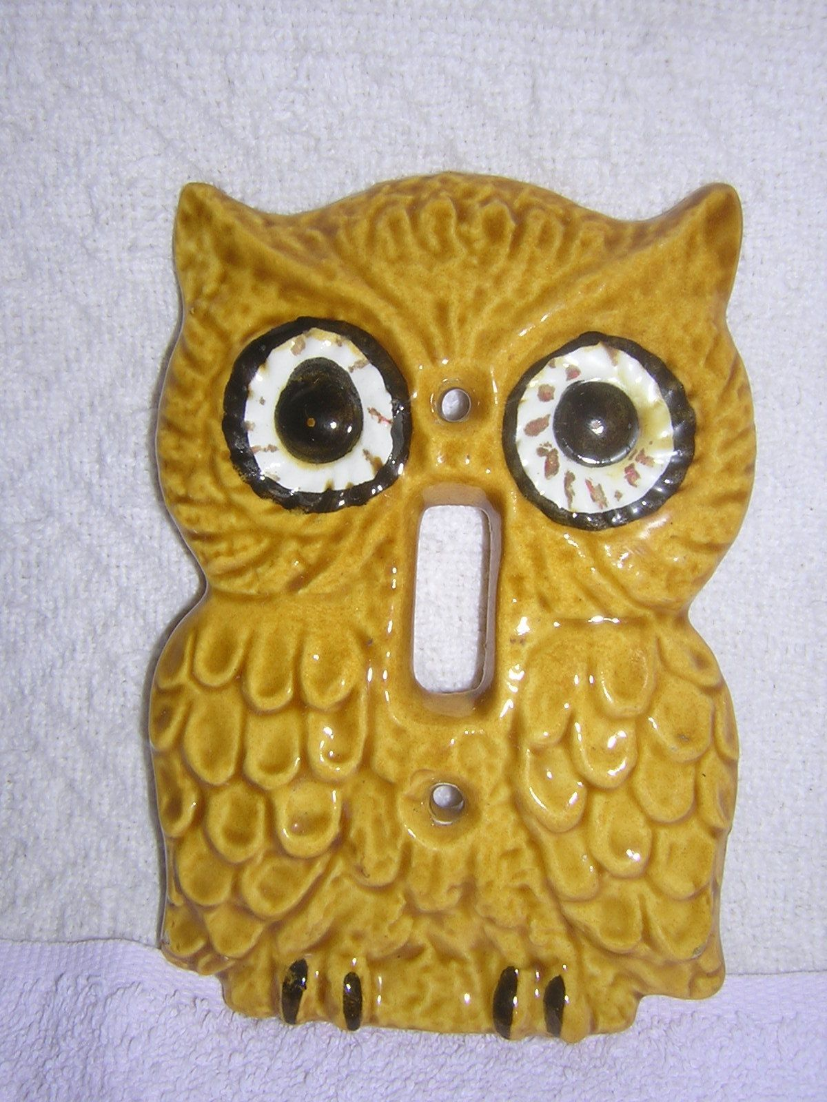 Vintage Enesco Ceramic Owl Wall Switch Plate | OWLS | Pinterest ...