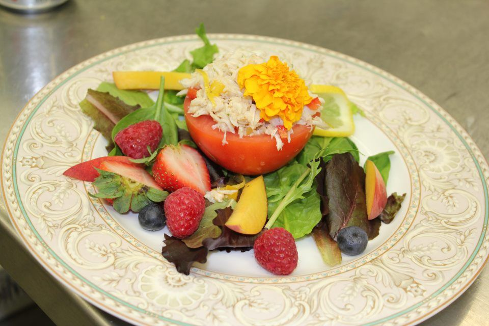 Hanover Tomato Stuffed with Chesapeake Blue Crab. Find the recipe here: http://www.executivemansion.virginia.gov/ExecutiveChef/Documents/HanoverTomatoStuffedWithCrab.pdf