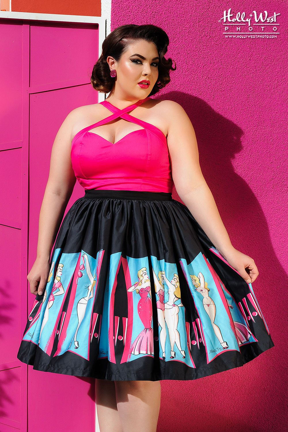 pinup girl clothing - plus size jenny skirt - burlesque performer