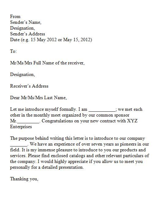 Printable Sample Introduction Letter For Business Proposal With 40