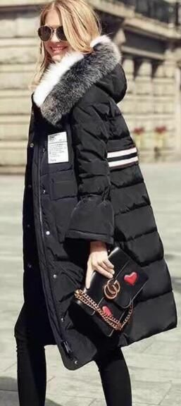Moncler women long black down coat 2017 #moncler #downcoat #long #longcoat