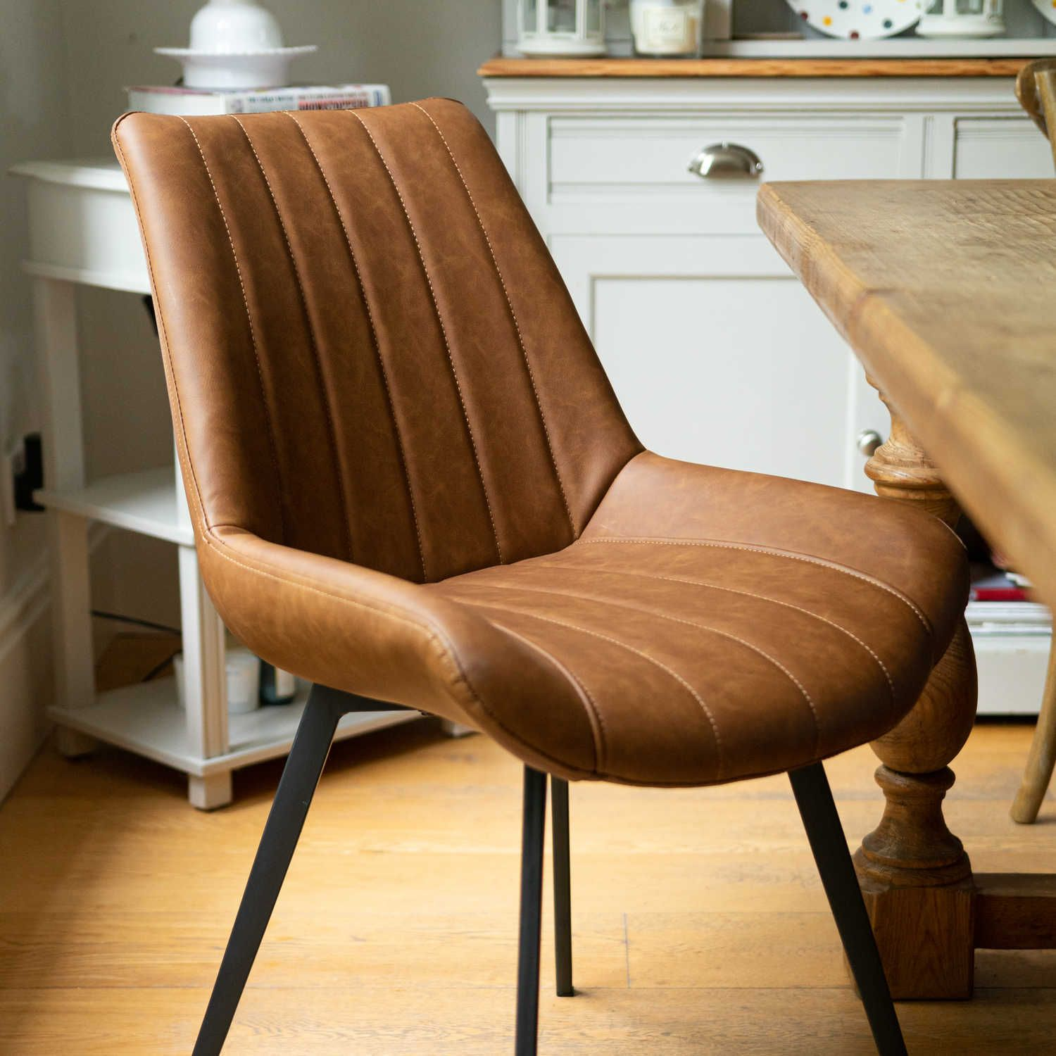 8 Leather Dining Chairs Faux Leather Dining Chairs Tan Dining Chair Dining Chairs Uk