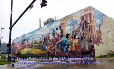 """""""Fertile Ground"""" is one of the largest public murals in the USA located in downtown Omaha, NE"""