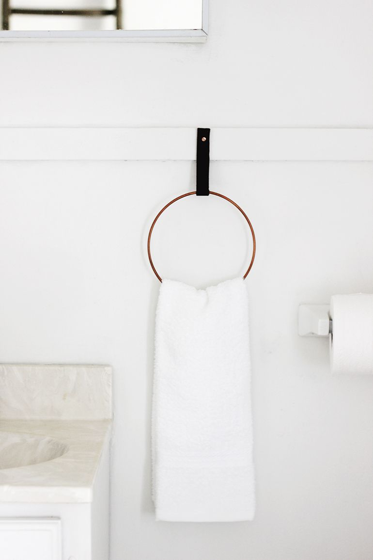 hand towel ring if youu0027re looking to replace a clunky towel holder you hate look no further than the sleek copper towel ring