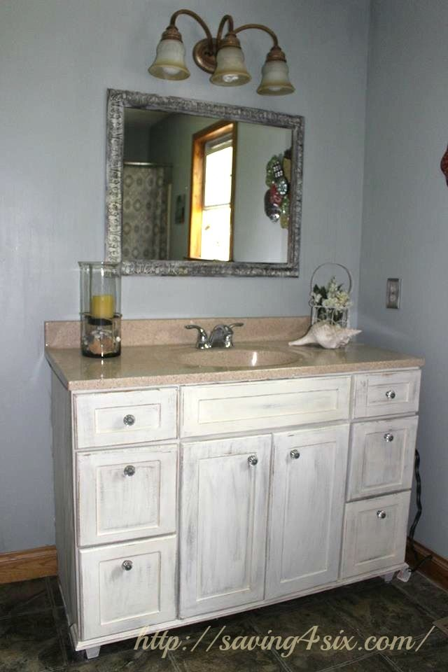 Annie Sloan Chalk Paint Vanity Before And After Painted Vanity Bathroom Painting Bathroom Cabinets Bathroom Vanity Makeover