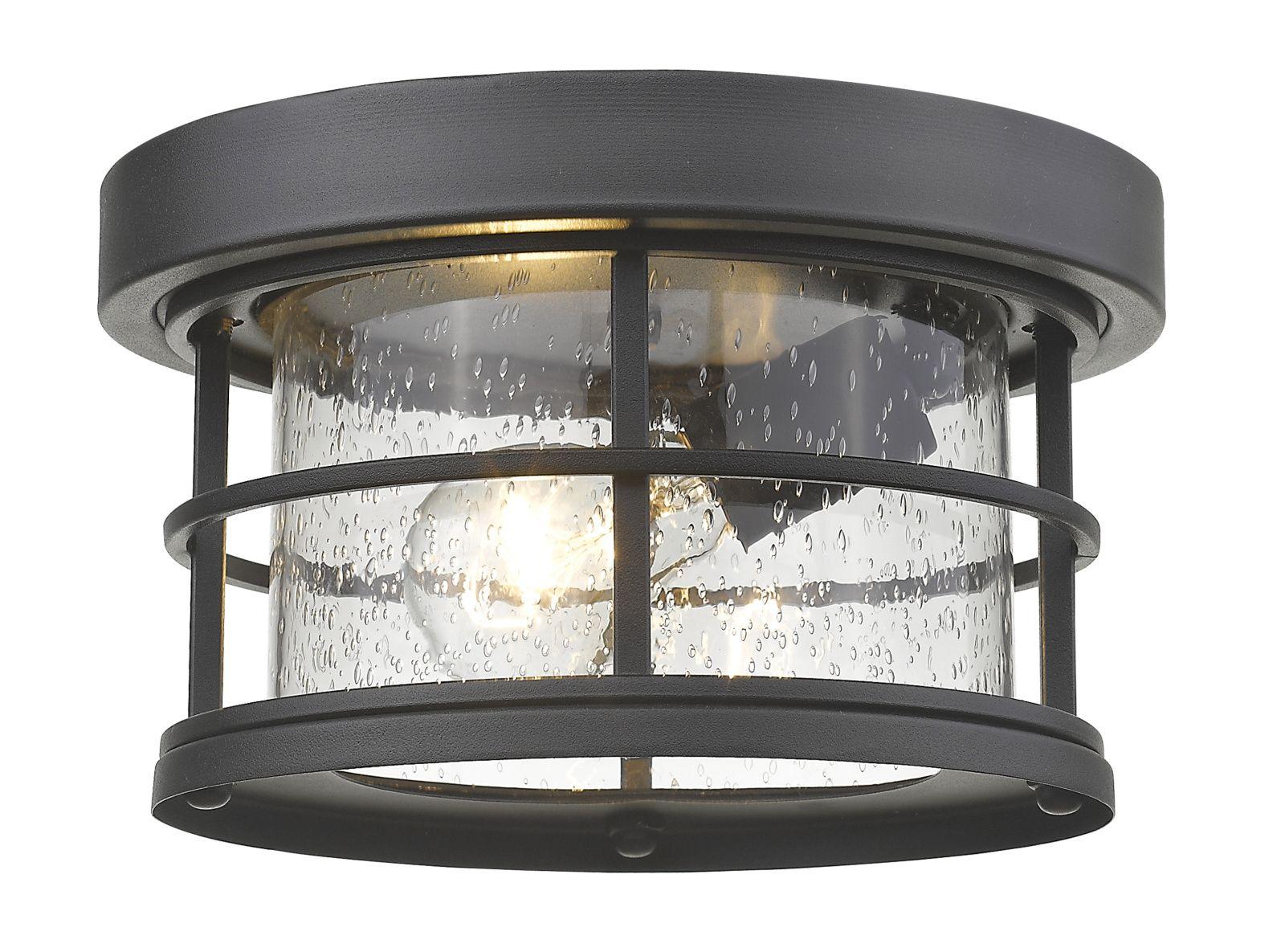 Exterior Additions Outdoor Ceiling Flush Light By Z Lite 555f Bk Outdoor Light Fixtures Outdoor Ceiling Lights Glass Ceiling Lights
