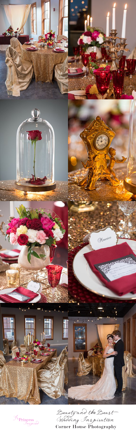 Beauty and the Beast Wedding Inspiration - A Princess Inspired Blog | Corner House Photography