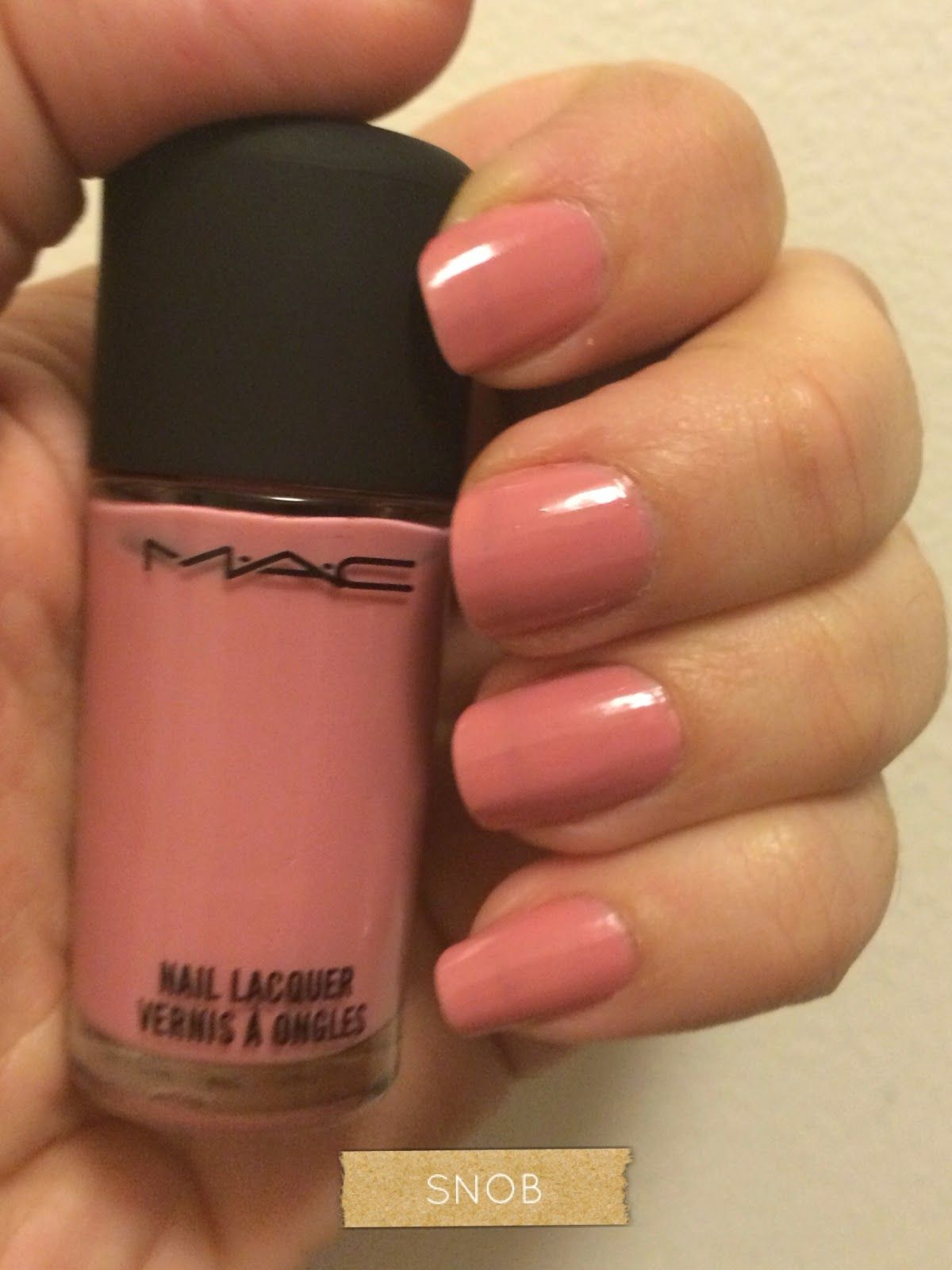 MAC in Snob pink nail polish | Fingers & Toes | Pinterest | Pink ...