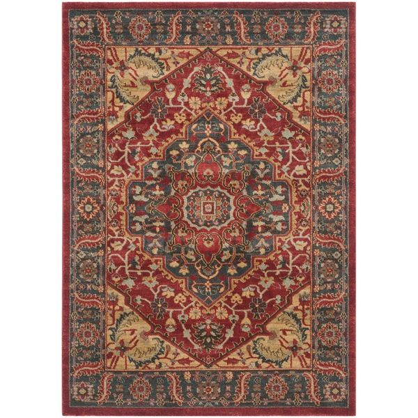 Safavieh Mahal Navy/ Red Rug (4' x 5'7) - Overstock™ Shopping - Great Deals on Safavieh 3x5 - 4x6 Rugs