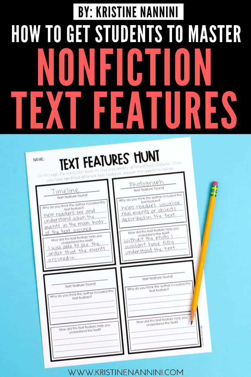 Freebies to Help Students Master Nonfiction Text Features   Nonfiction text  features [ 1200 x 800 Pixel ]