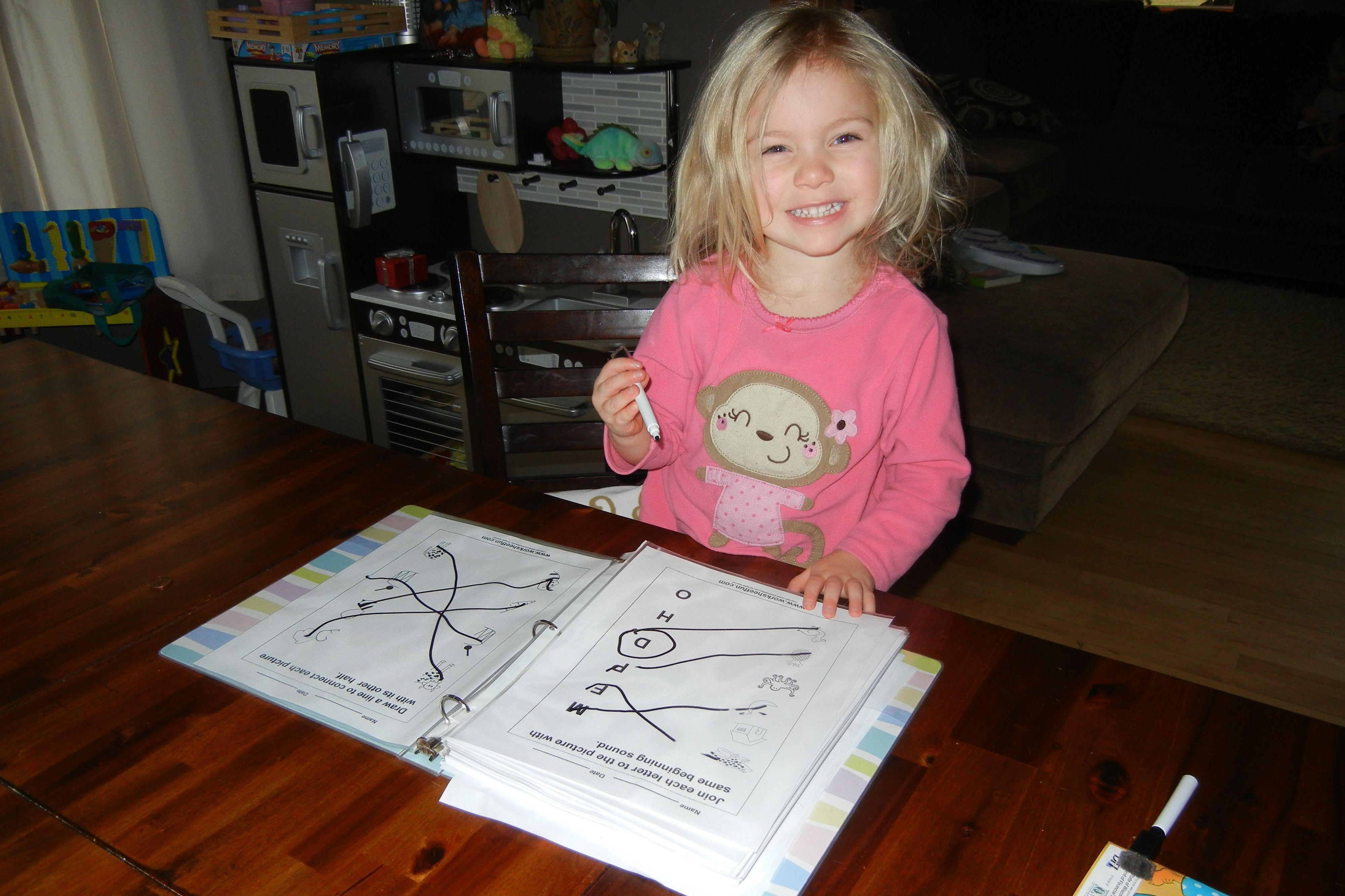 Diy Write And Wipe Preschool Worksheets Pinterest