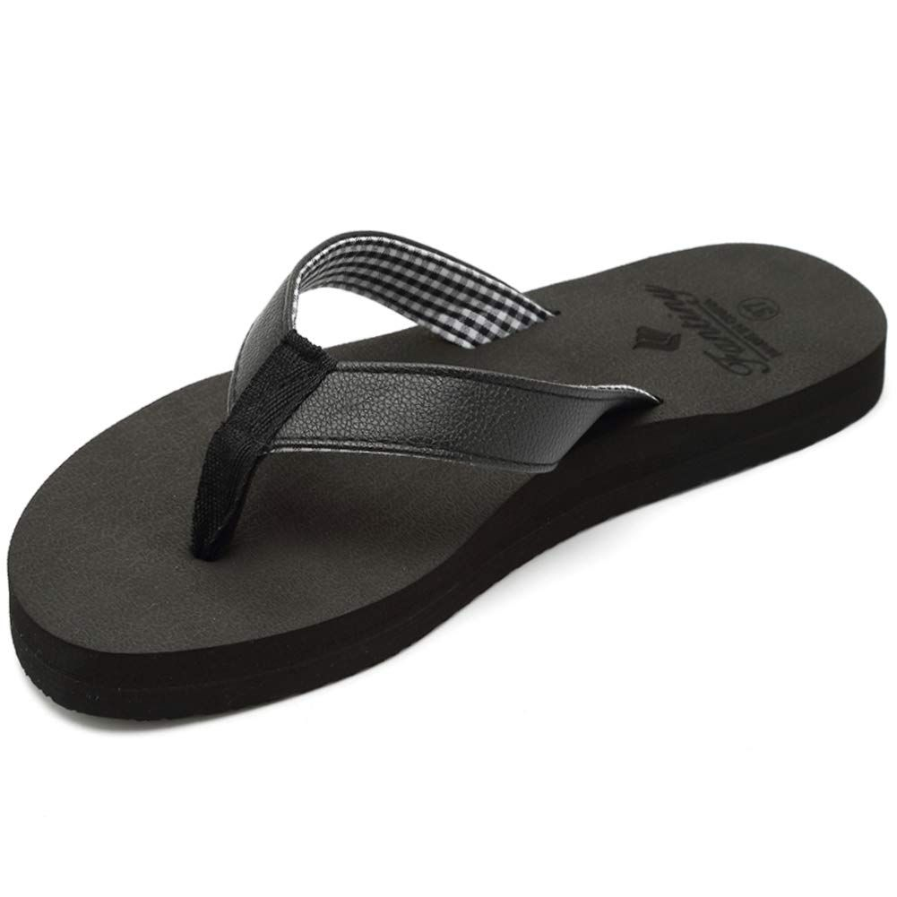 9de3d1aa83c0dd Fantiny Women s Flip Flops Thong Sandal with Arch Support Yago Mat Insole  Casual Slipper Shoes Outdoor