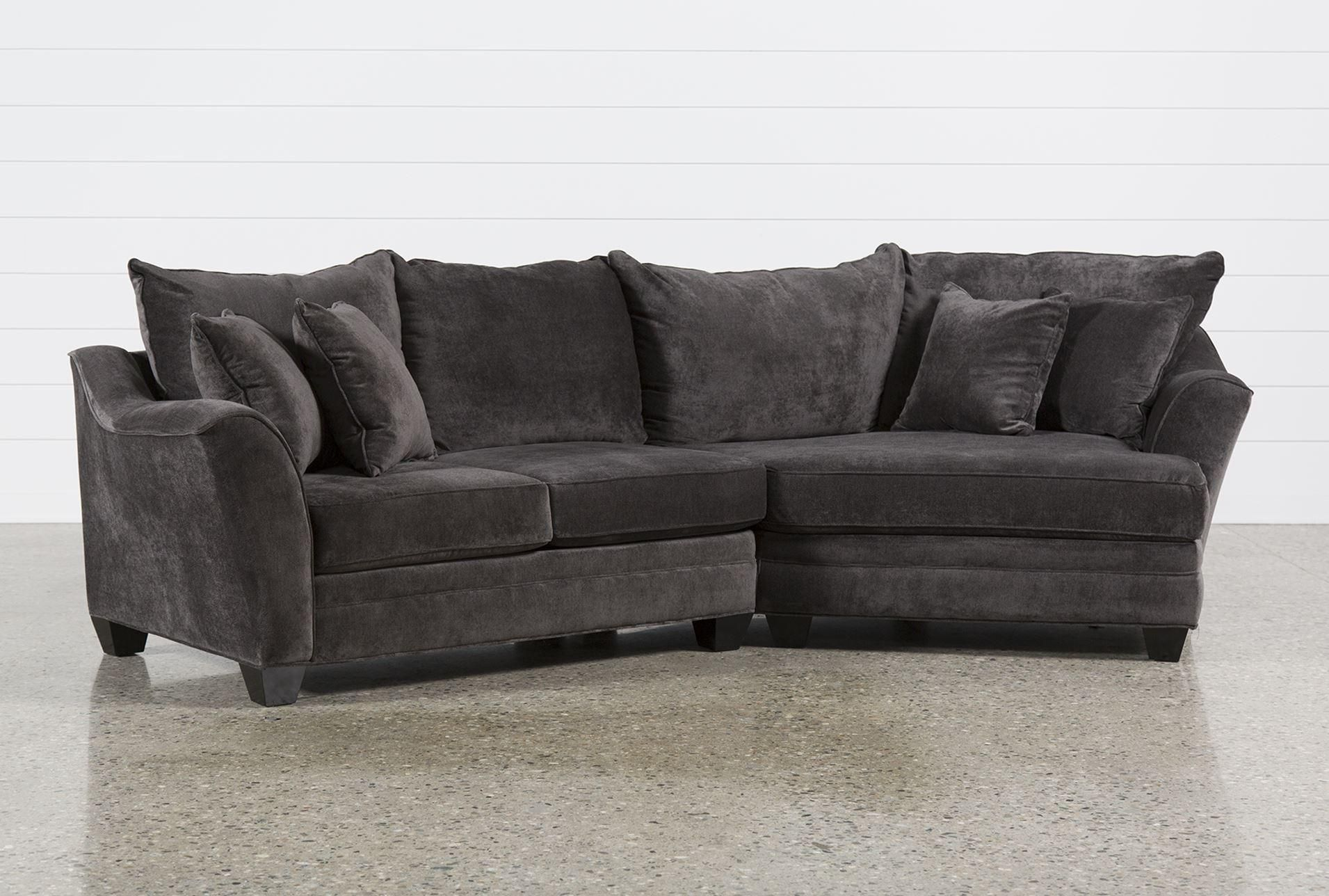 Phenomenal Belleview Graphite 2 Piece Sectional W Raf Cuddler House Squirreltailoven Fun Painted Chair Ideas Images Squirreltailovenorg