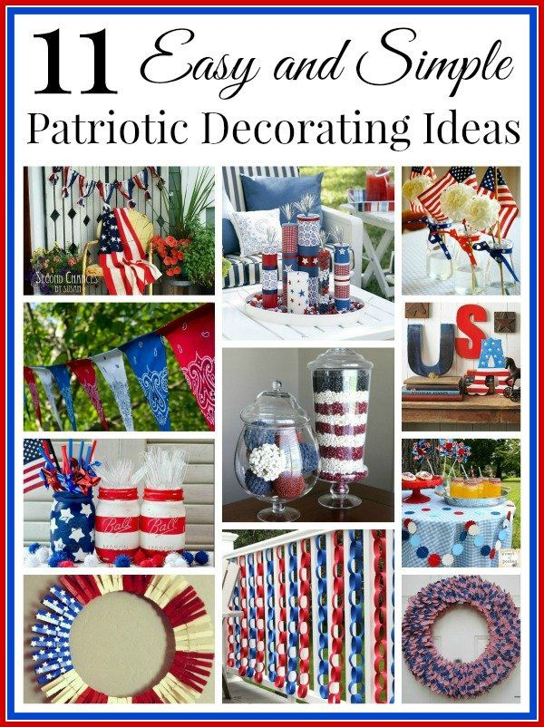 A Collection Of Diy Craft Decorating Ideas That Are Cute And Great For Any Patriotic Holiday