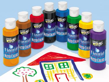 Washable Liquid Watercolors 8 Color Set At Lakeshore Learning