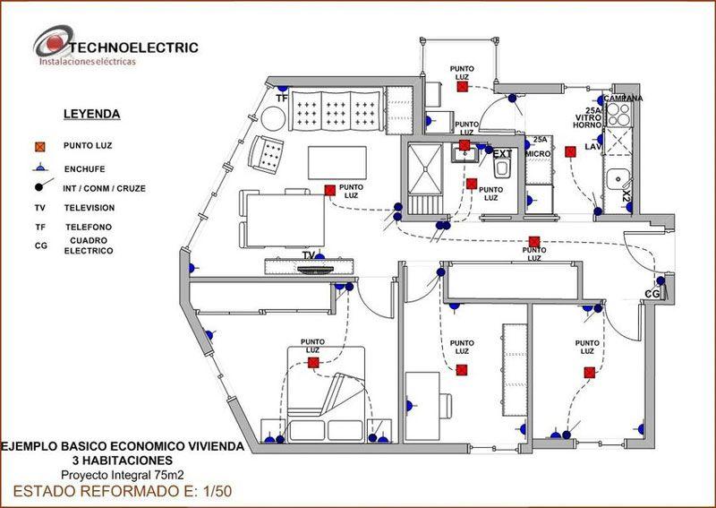 Oferta instalaci n el ctrica en viviendanstalaci n for Plano instalacion electrica