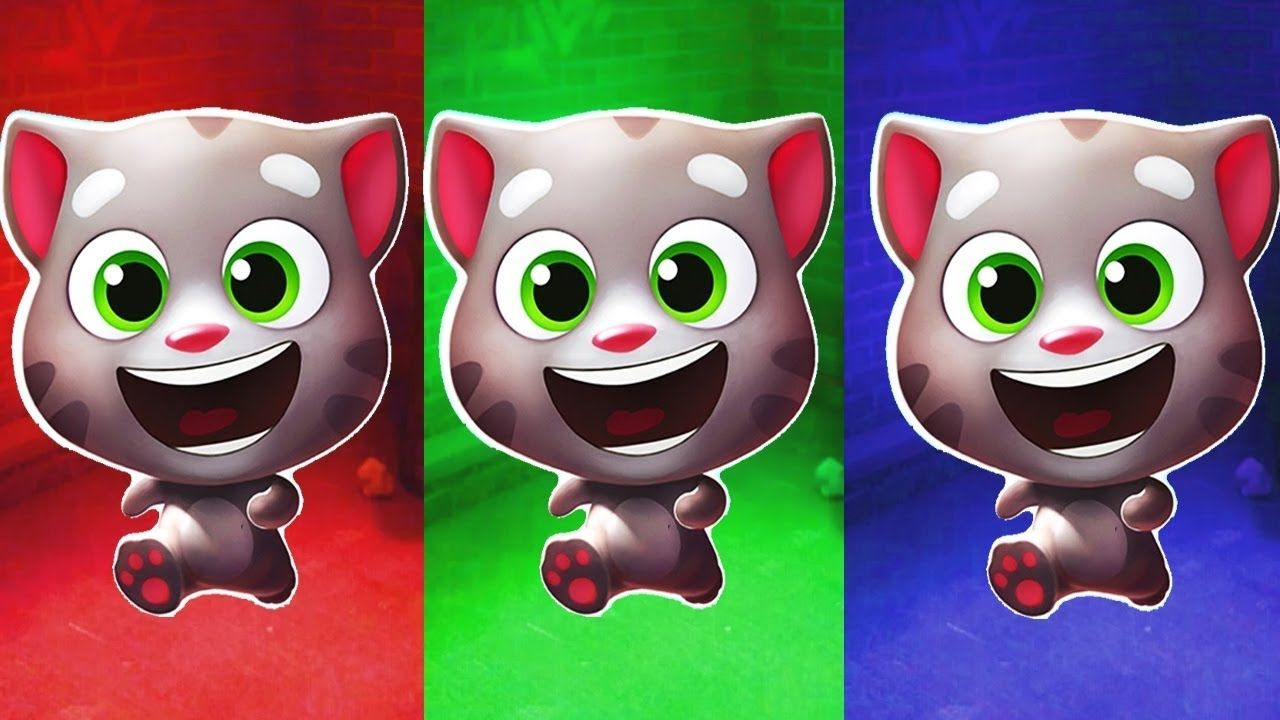 Kids Learn Colors with Talking Tom Gold Run Funny Cat